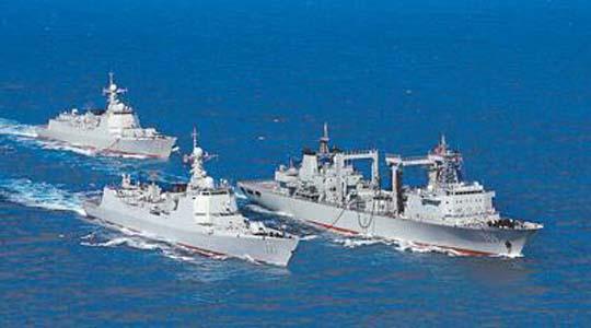 中国海军成立68周年