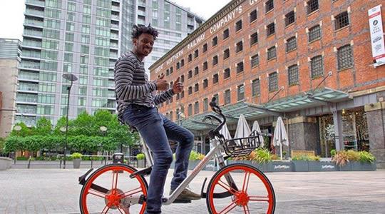 中国共享单车现身美国街头