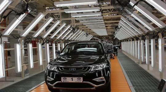 白俄罗斯首台量产吉利汽车下线