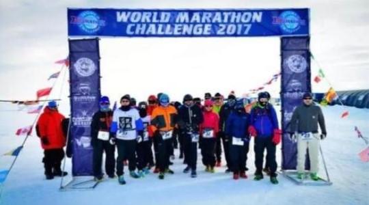 中国选手夺冠北极马拉松